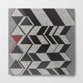 African Tribal Pattern No. 85 Metal Print