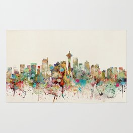 seattle skyline Rug