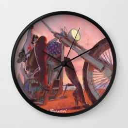 Nobody Rides For Free Wall Clock