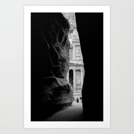 The Treasury Building of Petra as Seen Through the Siq Art Print
