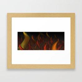 We Are All Burning Framed Art Print