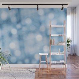 unfocused blue Wall Mural
