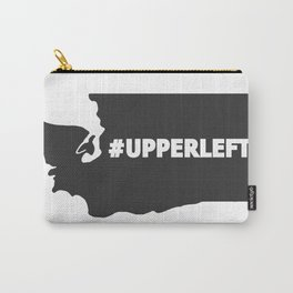 #Upperleft Gray Carry-All Pouch