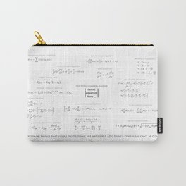 High-Math-Inspiration 01 - Black & Gray Carry-All Pouch