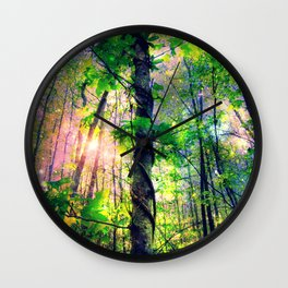 Forest of the Fairies (Deep Pastels) Wall Clock