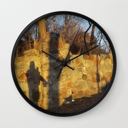 Just a shadow of ourselves - a walk with my dog, Madison, WI USA Wall Clock