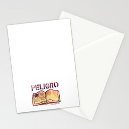 DANGER- PELIGRO Stationery Cards