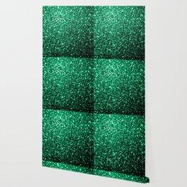 Beautiful Emerald Green glitter sparkles Wallpaper