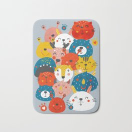 Monsters friends Bath Mat