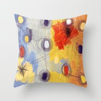 lost in translation Throw Pillows featuring lost in translation by mystudio69