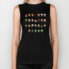 Video Games Pixel Alphabet Biker Tank