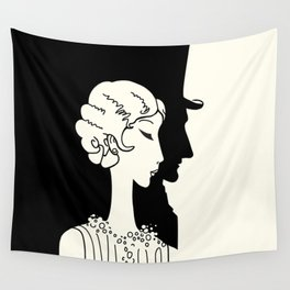 Deco Couple Wall Tapestry