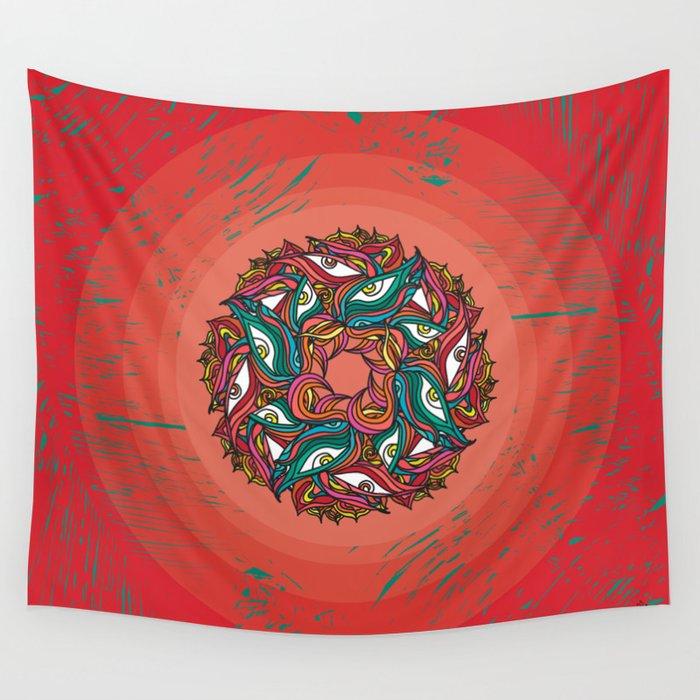 Jungle Mandala Wall Tapestry