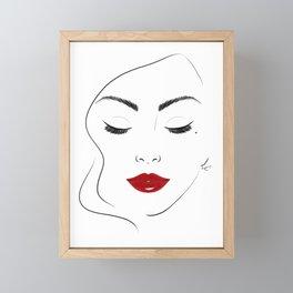 Red lips Framed Mini Art Print