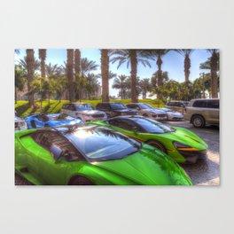 Dubai Super Cars Canvas Print