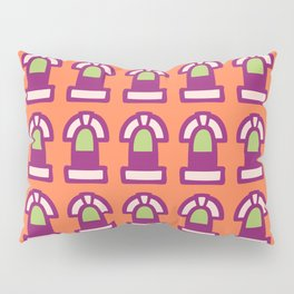 New York Windows Pattern 261 Orange Raspberry and Green Pillow Sham