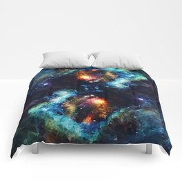 Abstract Galaxy Infinity Comforters