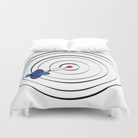 chicago bulls Duvet Covers featuring Bulls Eye by Nivedhna