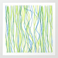 Wavy Water Art Print