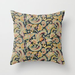 Nomad Paisley - Charcoal Throw Pillow