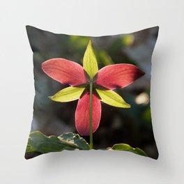 Red Trillium Life Throw Pillow