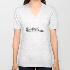 SLUMDOG MINION-AIRE Unisex V-Neck