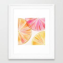 Summer Citrus Party Framed Art Print