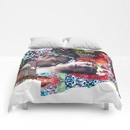 Klimt Kiss Collage Comforters
