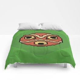 Pixel Princess Mononoke Mask Comforters