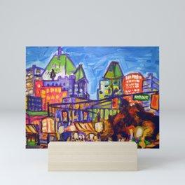 Shopping on Robson, Vancouver Mini Art Print