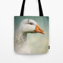 Goose with Tiara Tote Bag