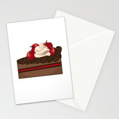 Cherry cake slice Stationery Cards