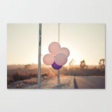 pink + purple Canvas Print