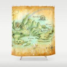 Neverland Map Shower Curtain