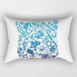 Final Fantasy Moogle-verse (blue) Rectangular Pillow