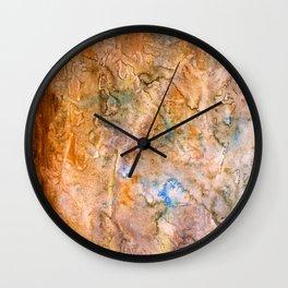 grungy texture Wall Clock