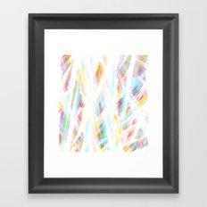 Color Rays Framed Art Print
