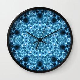 Cosmic Light Storm Mandala Wall Clock