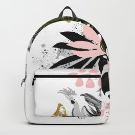 Bird in abstract nature Backpack