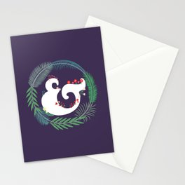 Floral ampersand Stationery Cards