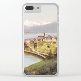 Hubert Sattler (Vienna 1817-1904 Vienna) view of Zell am See Clear iPhone Case