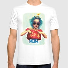 Wonder girl MEDIUM White Mens Fitted Tee