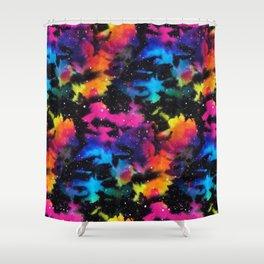 Tie Dye Rainbow Galaxy Shower Curtain