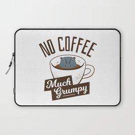 No Coffee, Much Grumpy - Hippo Laptop Sleeve