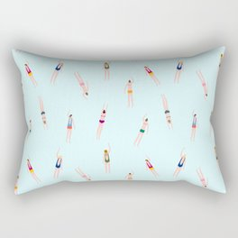 Swimmers in the pool Rectangular Pillow