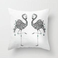 Poetic Flamingo Throw Pillow