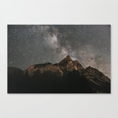 Milky Way Over Mountains - Landscape Photography Canvas Print