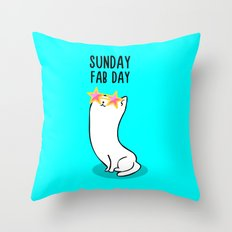 Sunday Fab Day! Throw Pillow