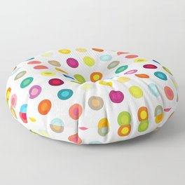 Small vintage and colourful circles Floor Pillow
