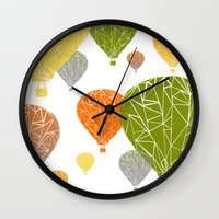 balloons Wall Clocks featuring BALLOONS by ARCHIGRAF
